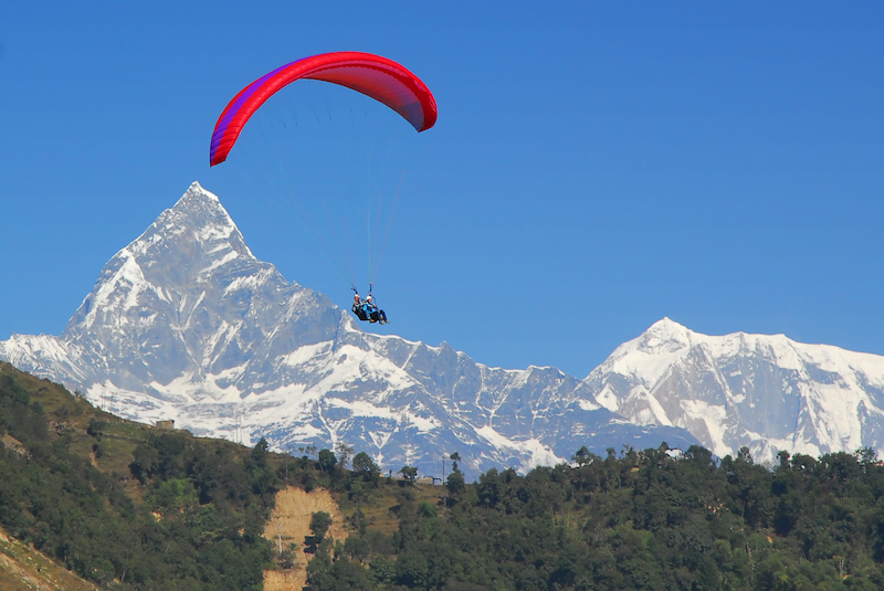 Paralgliding in Nepal | Pokhara