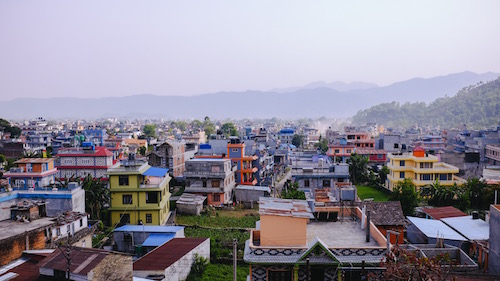 Pokhara City Roof Top view