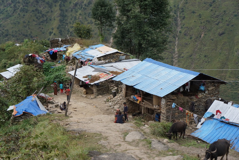 Nepali Homes in the Ruby Valley